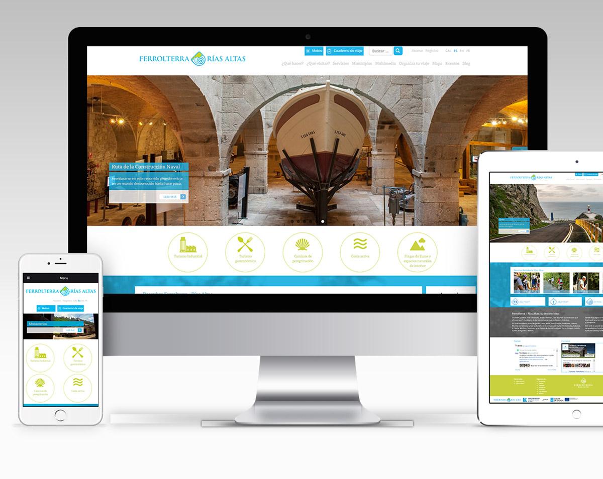 Web turismoferrolterra.es | Mancomunidade de Municipios de Ferrolterra | Aporta Comunicación